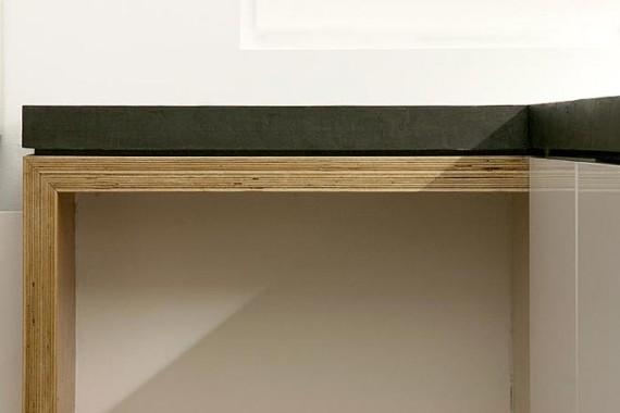 Two boxes loft : plan de travail de la cuisine