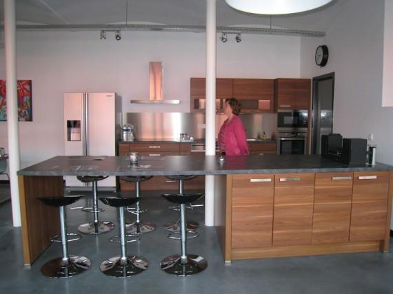 Cuisine dans un loft à Liège