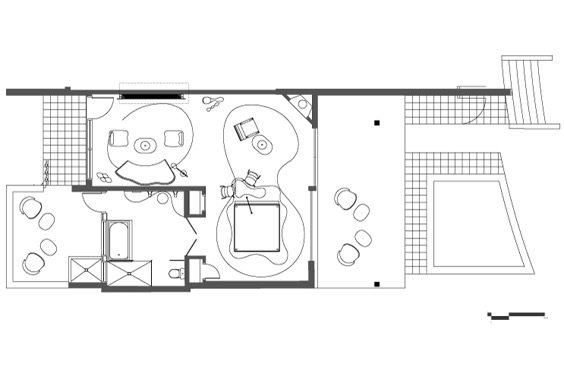 Plan du loft Sci Fi Bungalow par Karim Rashid