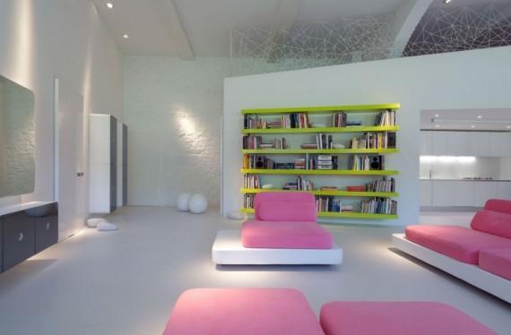 Residence Micheli, la bibliothèque
