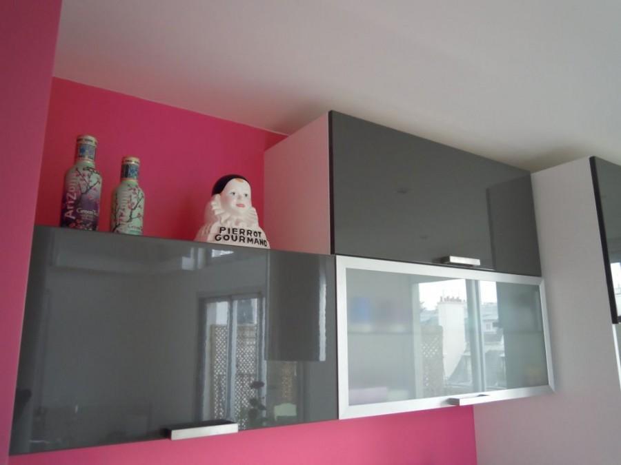 Cuisine design gris et rose journal du loft - Cuisine grise et rose ...