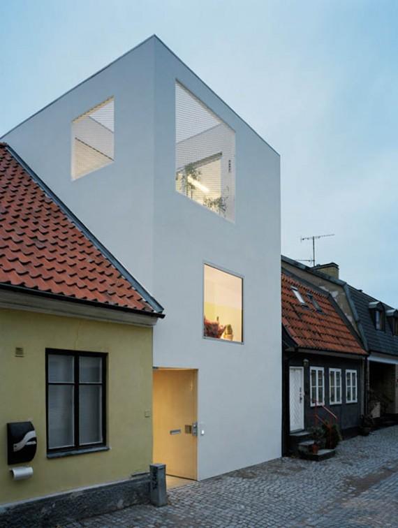 Maison de ville suédoise moderne