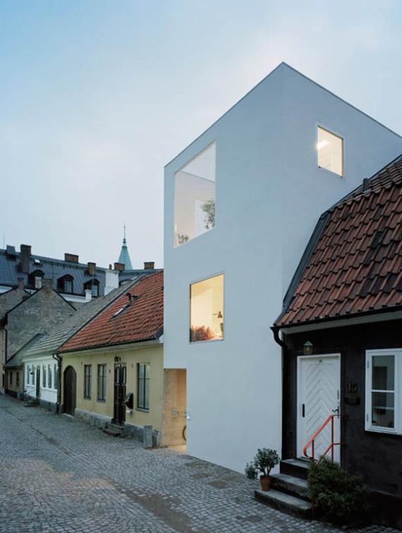 Maison de ville suédoise cubique