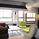 Ouverture lit suspendu plafond Bed UP