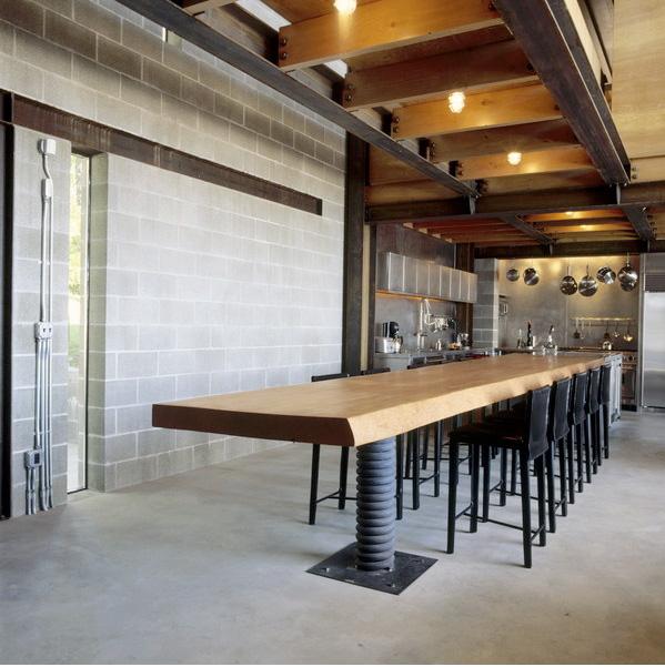 Table en bois industrielle loft chicken point cabin for Table industrielle loft