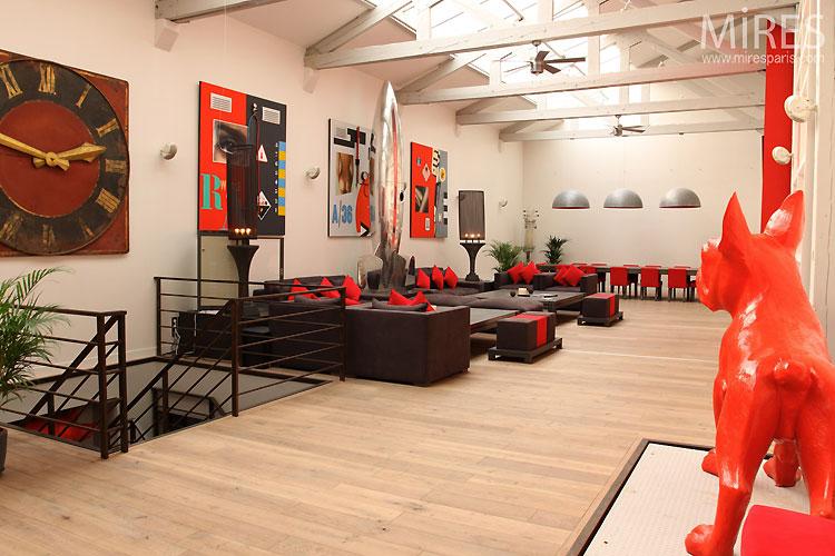 Loft rouge et blanc design