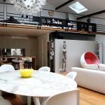 Loft avec mobilier sixties