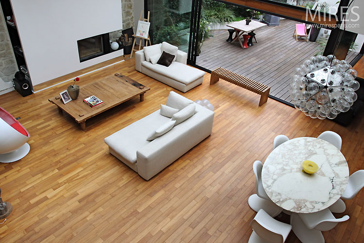 D co loft parquet for Deco appartement parquet