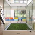 Loft avec un carré de pelouse intérieur