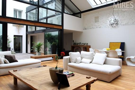 loft avec verri re la pasteurization. Black Bedroom Furniture Sets. Home Design Ideas
