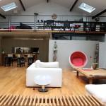Loft avec verrière : mezzanine