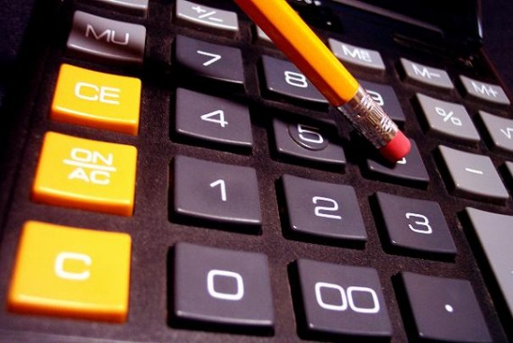 Photo d'une calculatrice