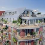 Résidence neuve esprit loft en briques rouges Paris in motion