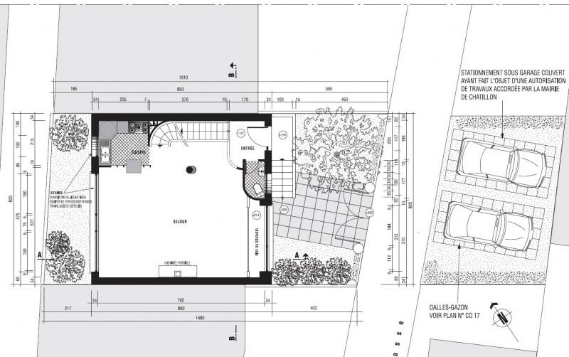Villa 1930 dans le style Mallet-Stevens / Le Corbusier – plan rez-de-chaussée