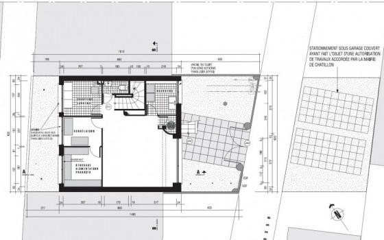 Villa style années 30 à Chatillon (92320) - plan 2ème étage