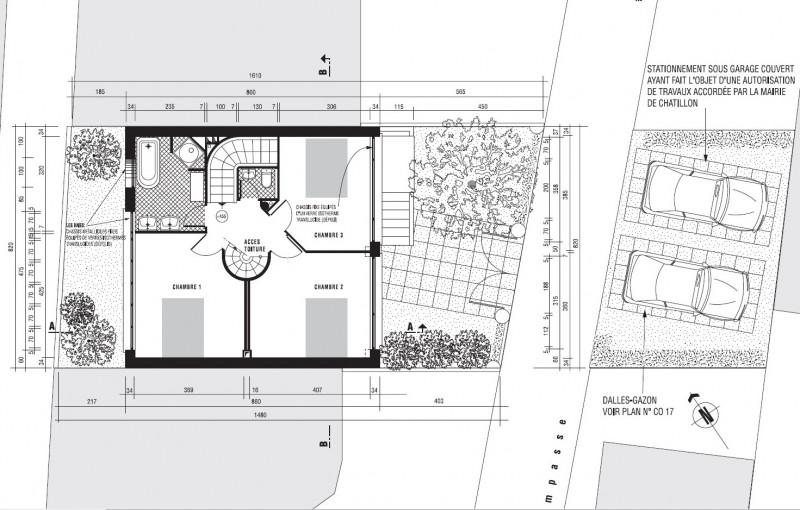 Villa 1930 à Chatillon – plan du 2ème étage