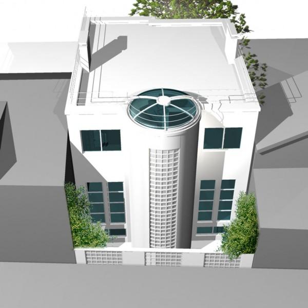 villa moderne chatillon vue de la fa ade arri re journal du loft. Black Bedroom Furniture Sets. Home Design Ideas