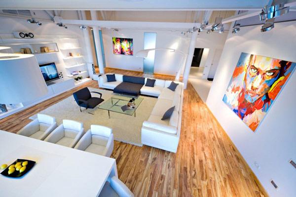Tr¨s grand canapé d angle dans un loft contemporain  Chisinau en