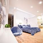 Chambre design dans un loft contemporain à Chisinau en Moldavie