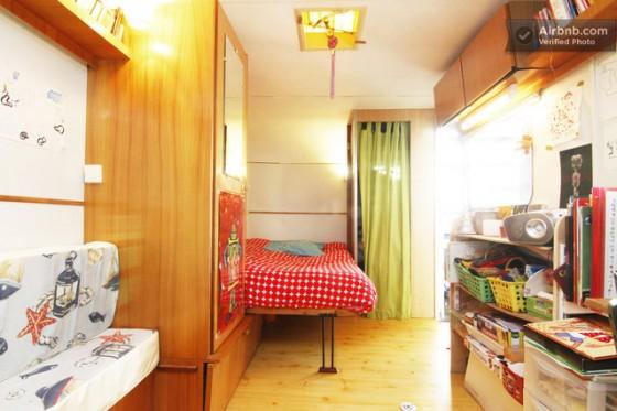 A l'intérieur de la caravane du loft Caravane