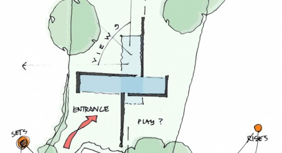 Plan de la maison contemporaine Kennedy House