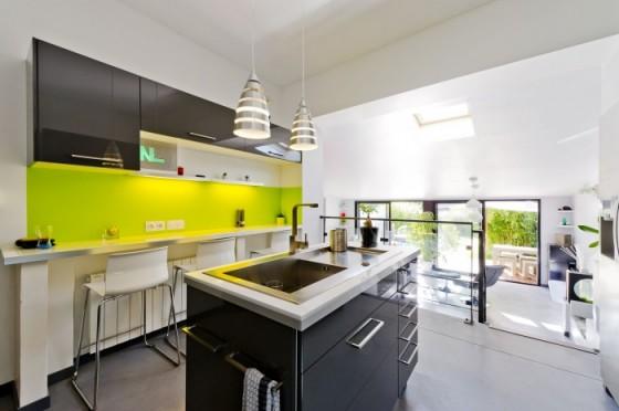 Avant - Après : Cuisine design dans une maison des années 50 transformée en loft