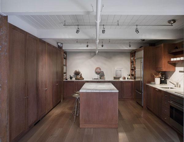 Loft san francisco cuisine am ricaine avec ilot for American cuisine in san francisco