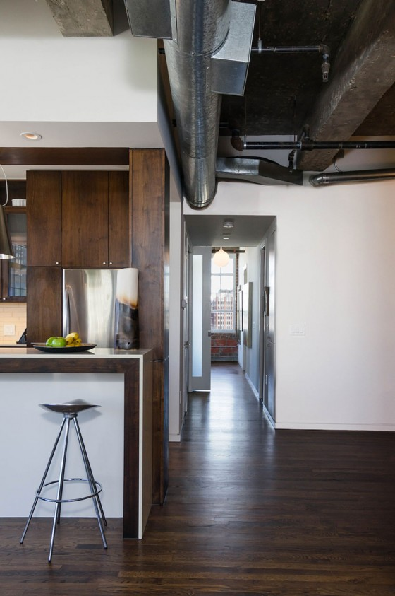 Loft à Houston par CONTENT architecture - couloir