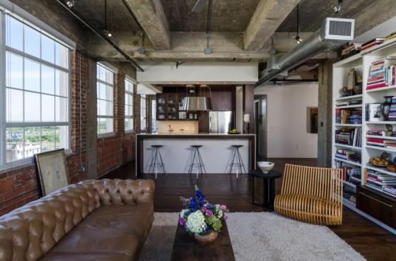 Loft à Houston par CONTENT architecture - cuisine ouverte