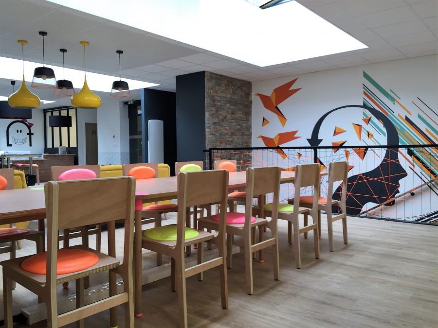 Open space du loft espace de coworking a Rennes