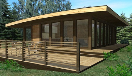 Maison loft en bois aquarium projects journal du loft - Prix de construction d un garage au m2 ...